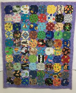I_spy quilt with snowball blocks