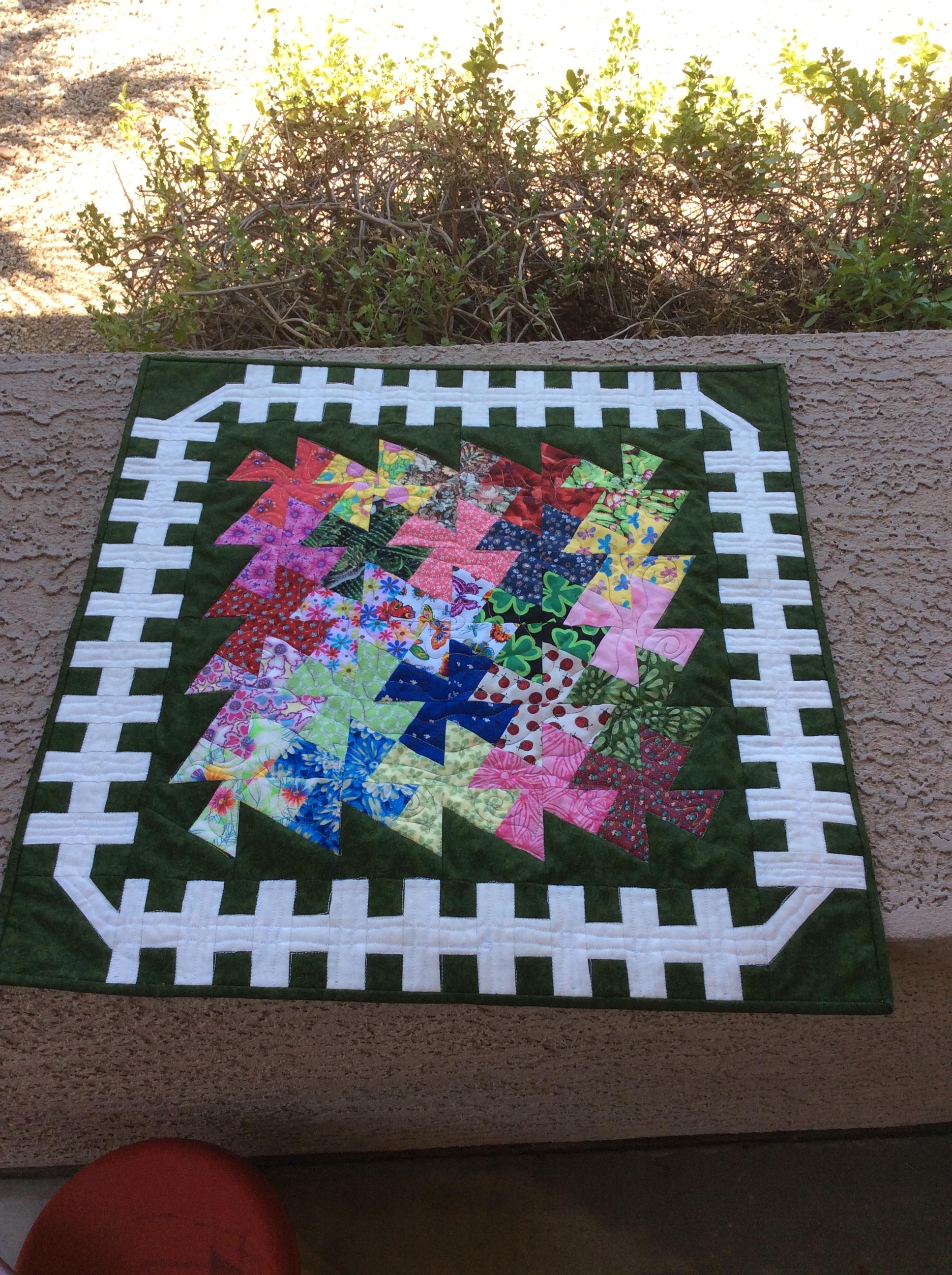 Garden Twister quilt pattern