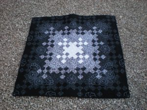 Night blooms black and white quilt