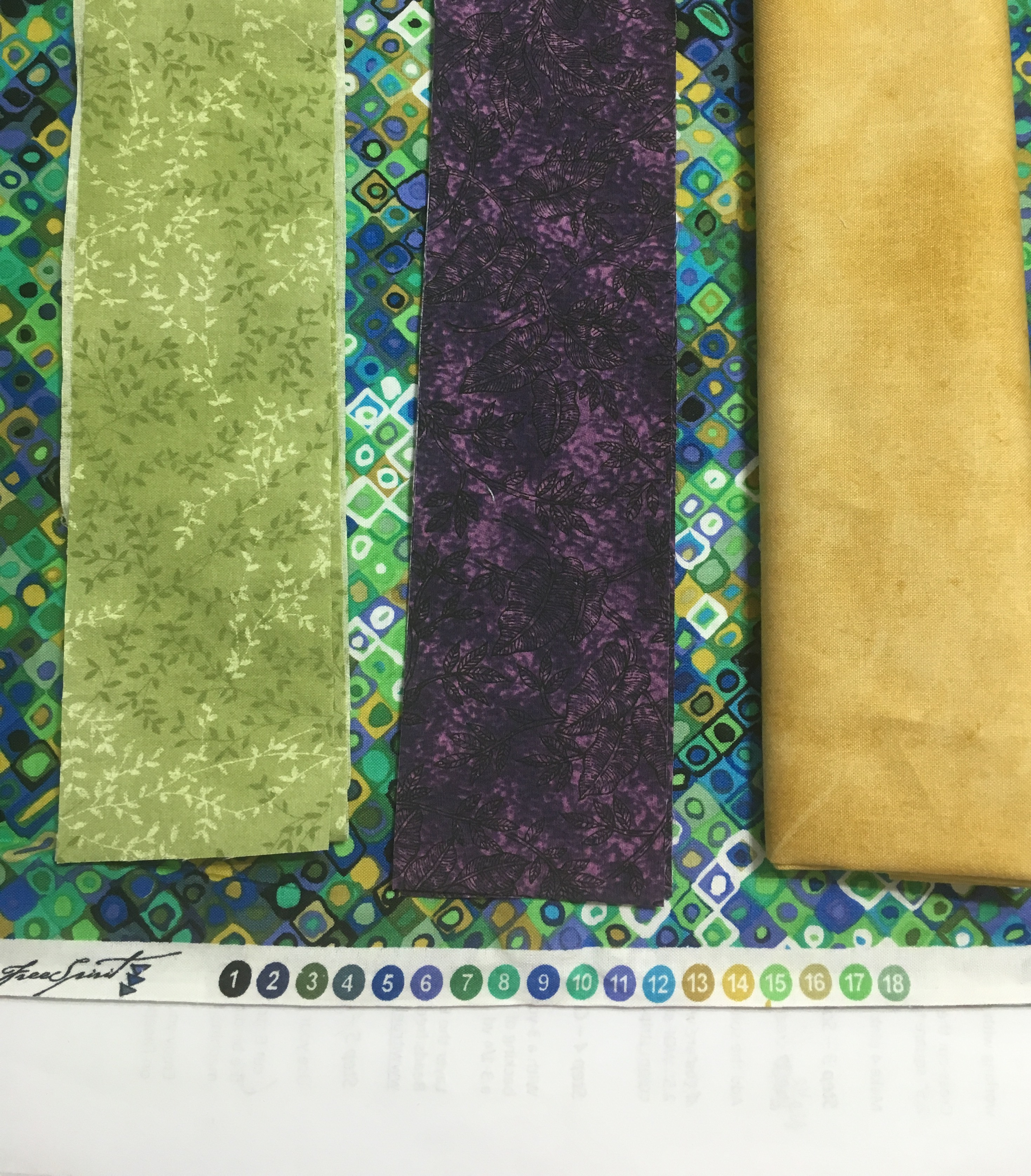 using a focal fabric to choose colors for a quilt
