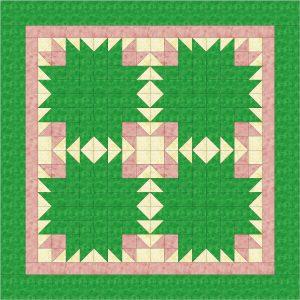 EQ7 cactus blossom quilt design