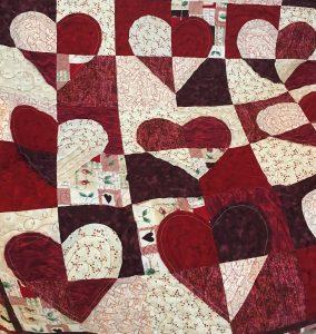 quilting hearts raw edge applique