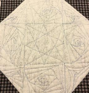 free motion quilting spirals
