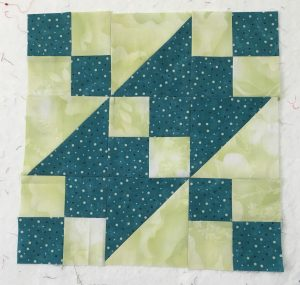 Jacob's Ladder Quilt Block by TrueBlueQuilts
