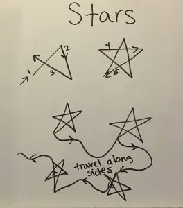stars free motion quilting