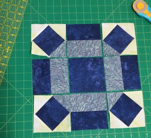rolling stone quilt block ready to sew