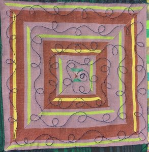 free motion quilting loops