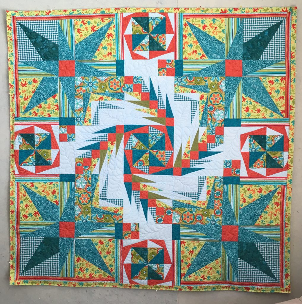 angle play quilt features double dna quilting design