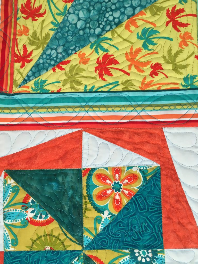 actual stitching for double dna quilting design