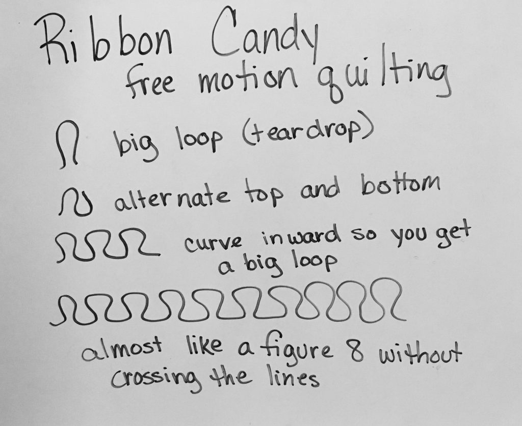 free motion quilting ribbon candy design