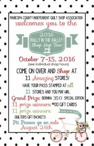 flyer for maricopa county shop hop 2016