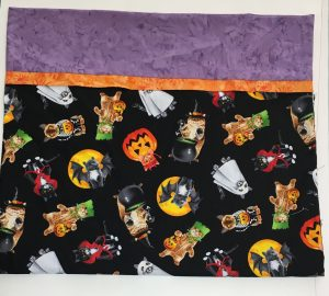 roll it up pillowcase with halloween fabric