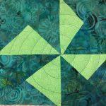 spiral quilting pinwheel block