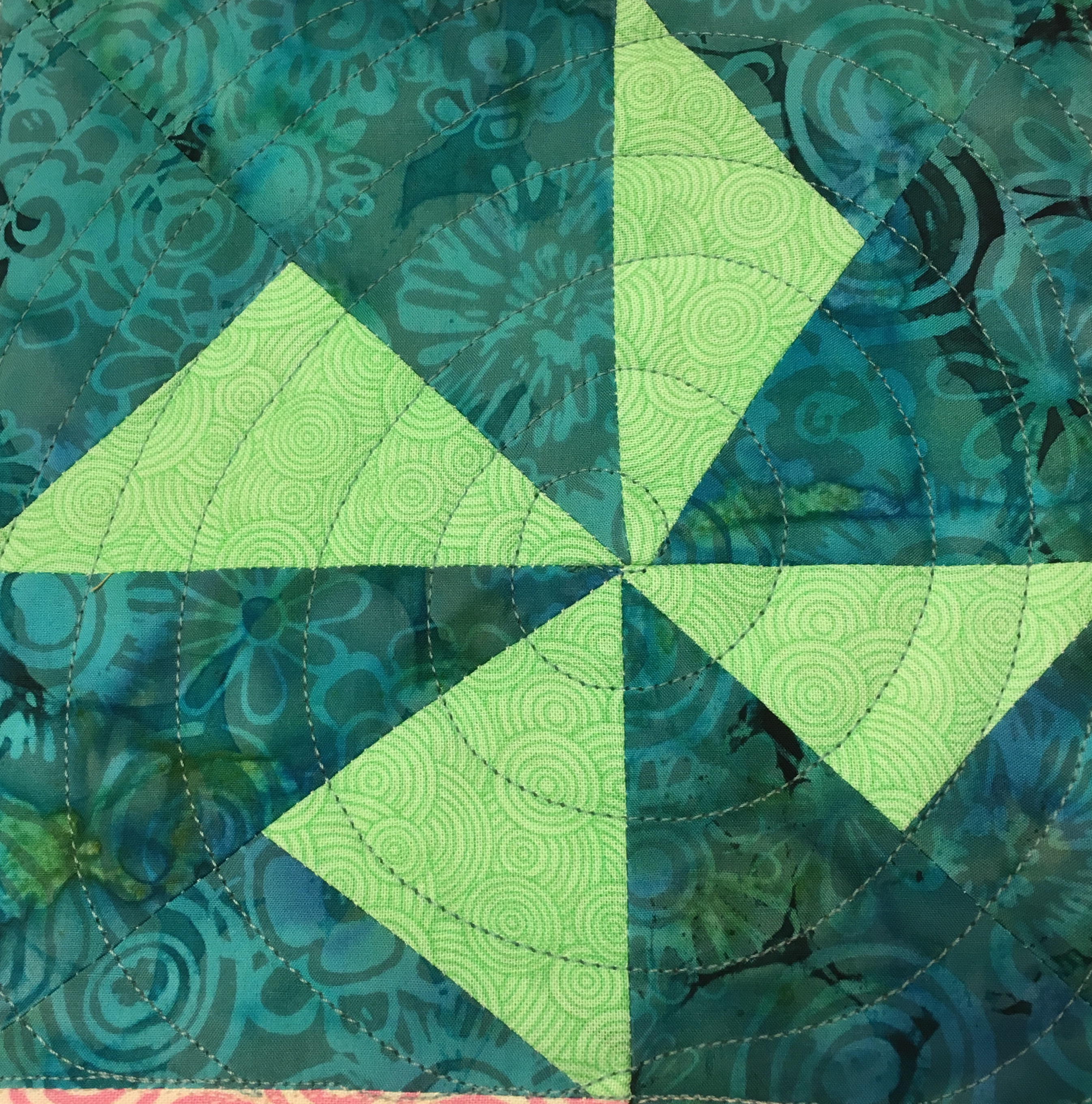 monday triangles spiral quilting block motion pinwheel quilt in free designs image
