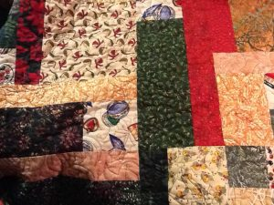 fabric for a Christmas quilt