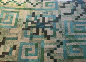monochromatic quilt teal universe
