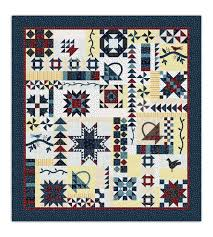 sampler quilt with variable size blocks