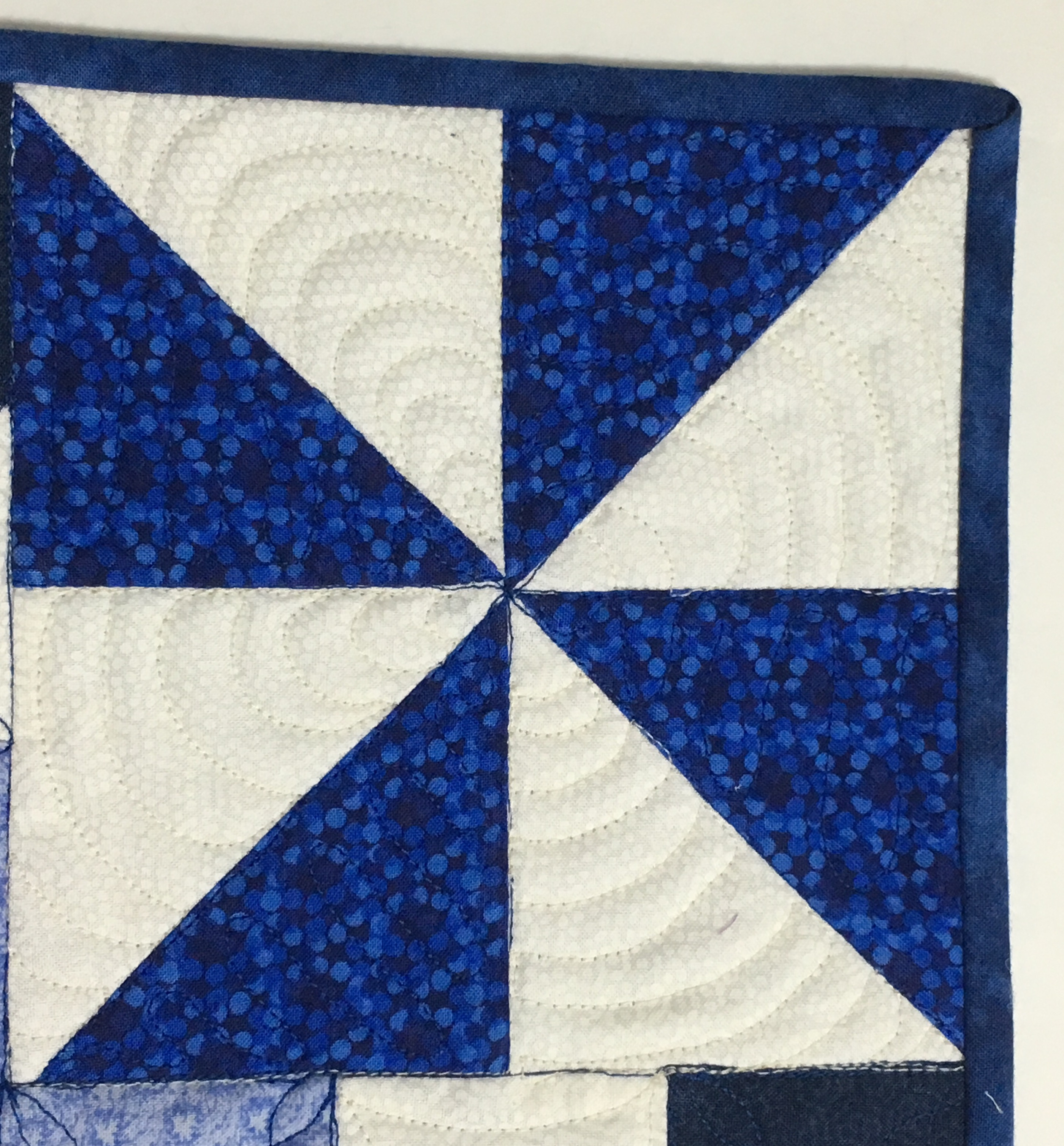Free Motion Quilting True Blue Quilts Banner Stitch Sampler