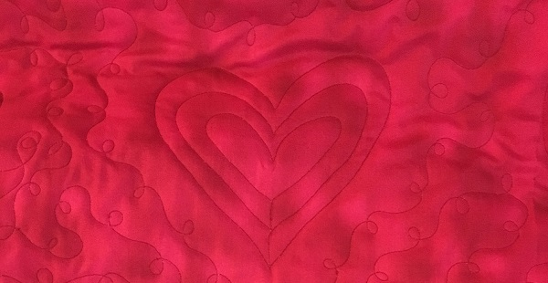 quilting hearts detail