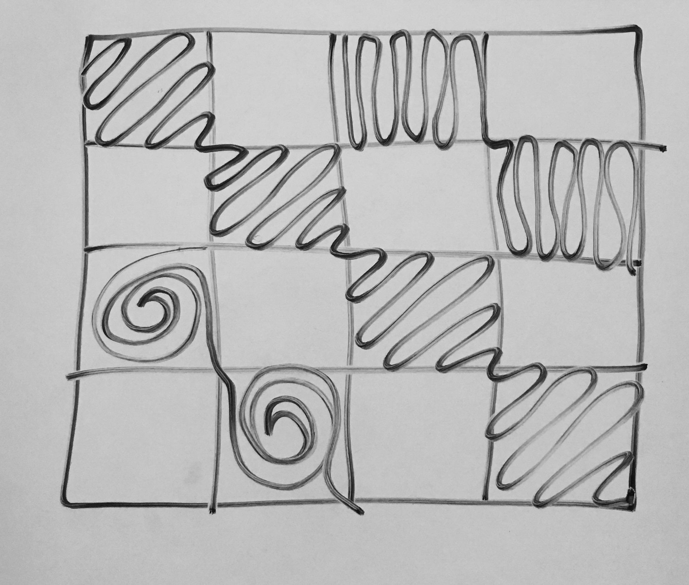 shadow quilting checkerboard diagram