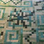 monochromatic quilt teal universe