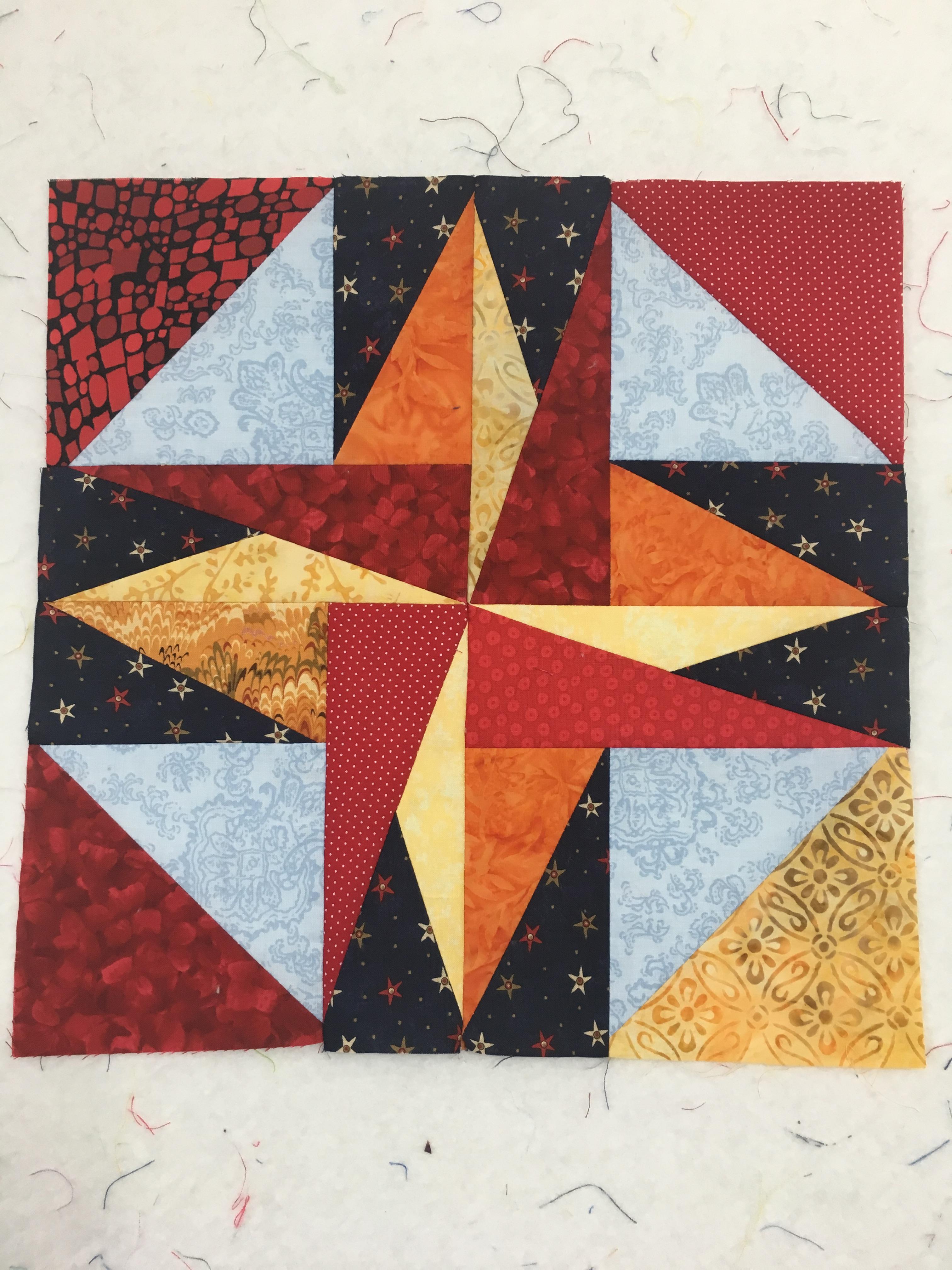 Sparkle star block