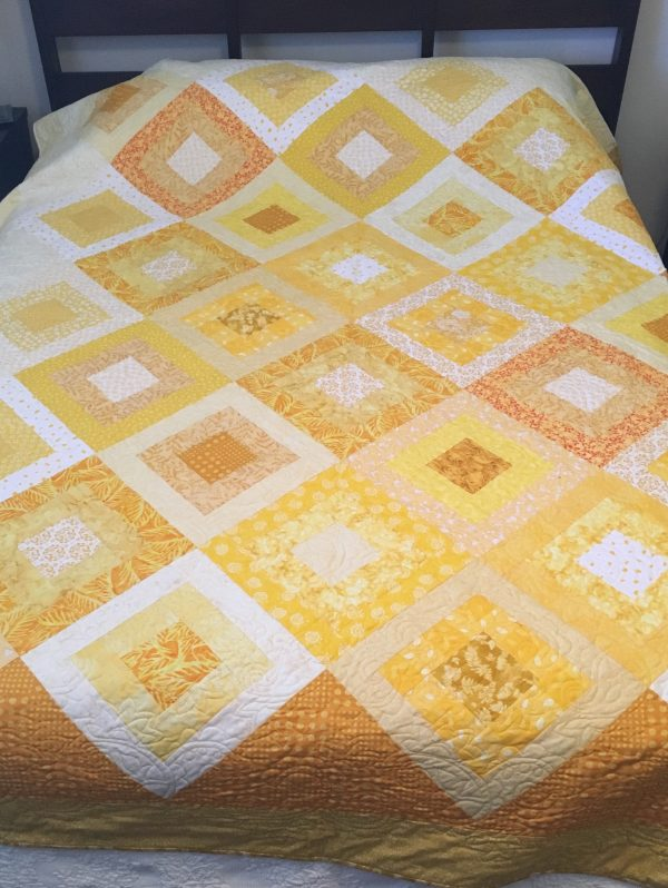 Yellow Suns Quilt Pattern