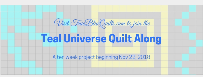 teal universe quilt along