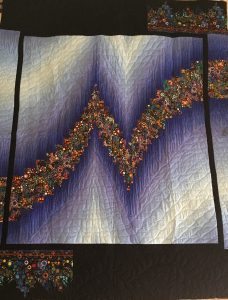 two color bargello quilted by Andi Stanfield