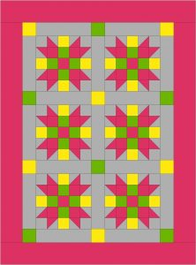 Additional blocks and borders make an adorable baby quilt