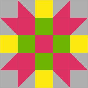 A springtime coloring of the 4X Star block