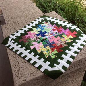 garden twister small quilt