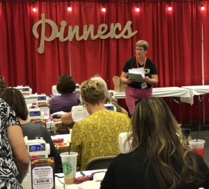 quilt class at pinners conference