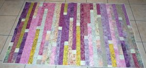 jelly roll quilt with spacers