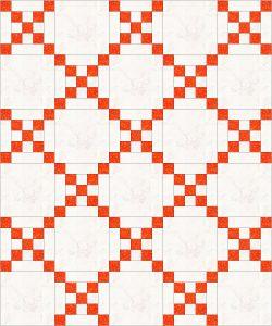 classic Irish Chain quilt