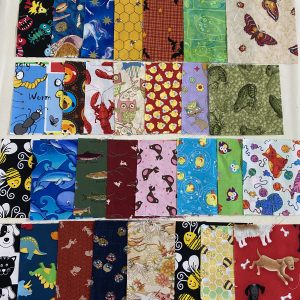 assorted animal fabric squares