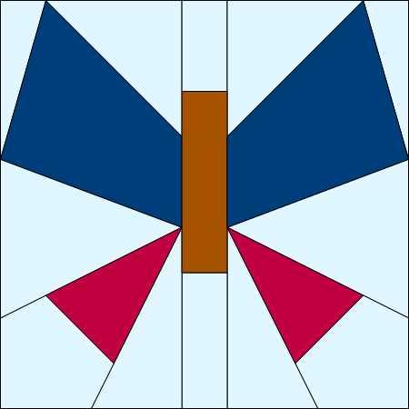 Flutter Free paper pieced PDF