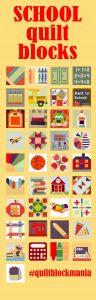 Back to School quilt blocks