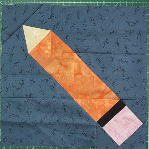 Patchwork Pencil quilt block