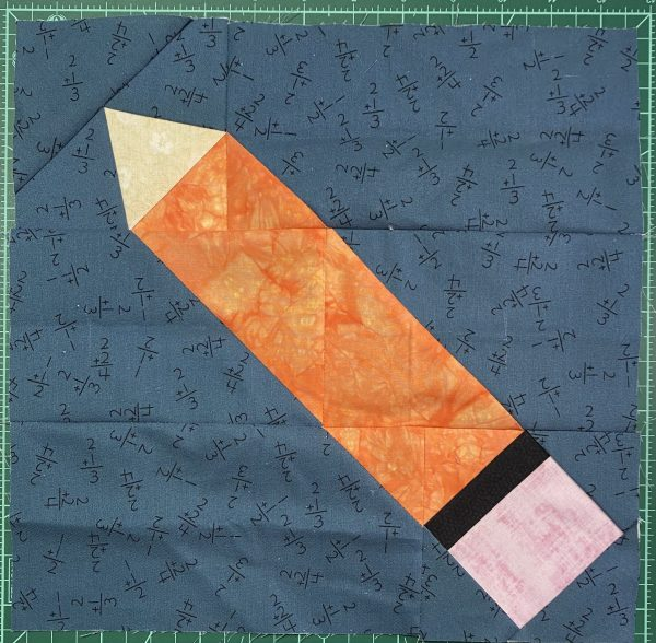 Patchwork Pencil quilt block