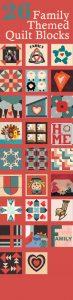 Family quilt blocks