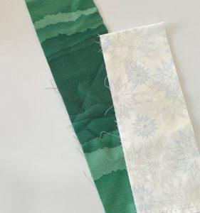 tree and snow fabric