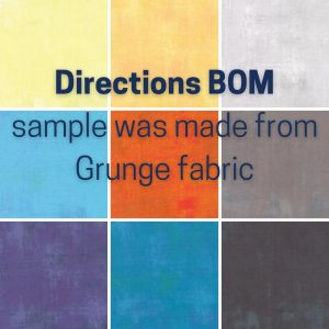 Directions BOM grunge colors