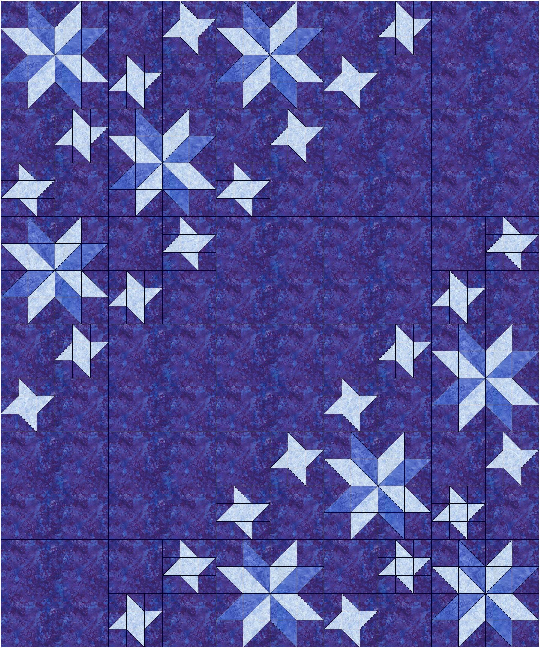Big_n_Bright blue quilt