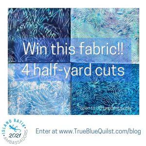 4 fabrics from Island Batik Starry Night collection