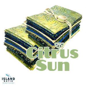Island Batik Citrus Sun fabric