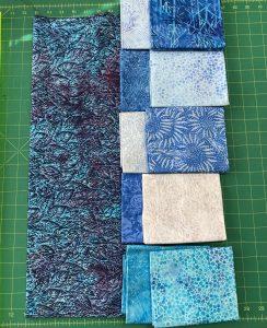 light and dark fabrics from the Starry Night line by Island Batik