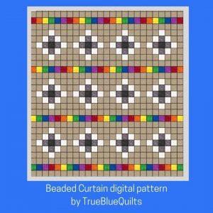 Rainbow version of Beaded Curtain