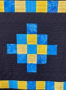 free motion quilting in Beaded Curtain
