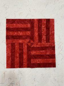 big cherry red quilt blocks